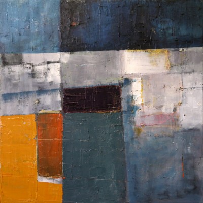 blu orange, 50x50x1.6cm, oil on canvas,2014,£535,